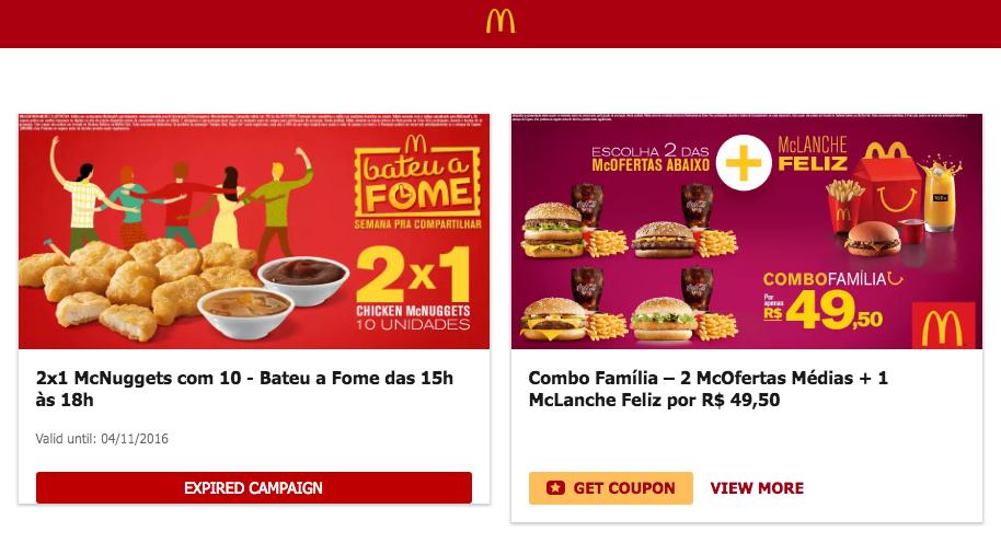 Cupom de Desconto McDonald's